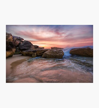 Tamarama Rocky Sunrise Photographic Print