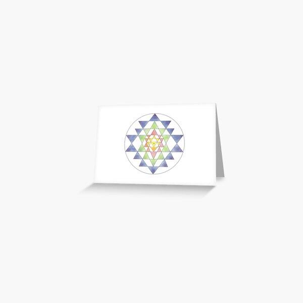 Sri Yantra 10 Greeting Card