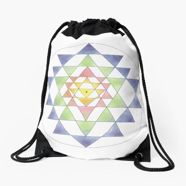 Sri Yantra 10 Drawstring Bag