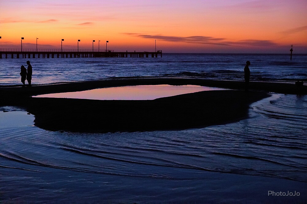 Tidal Pool at Dusk by PhotoJoJo