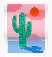 No Foolin - retro throwback neon art design minimal abstract cactus desert palm springs southwest Poster