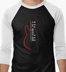 Bass Players Do It Deeper! Men's Baseball ¾ T-Shirt
