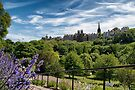 Princes Street Gardens and Ramsay Garden on Castle Hill by Kasia-D