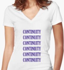 Tee: CONTINUITY Women's Fitted V-Neck T-Shirt