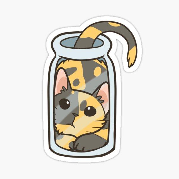 Bottled Cat Sticker