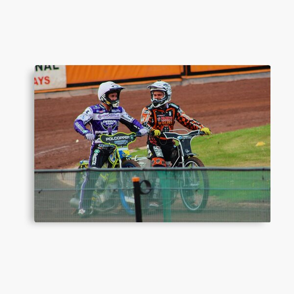 Speedway Troy and Tai Canvas Print