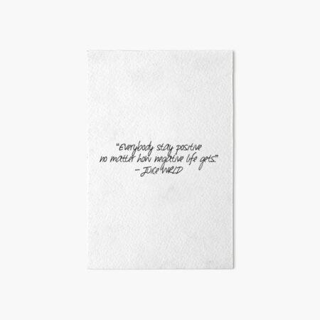 Juice Wrld lyrics  Art Board Print