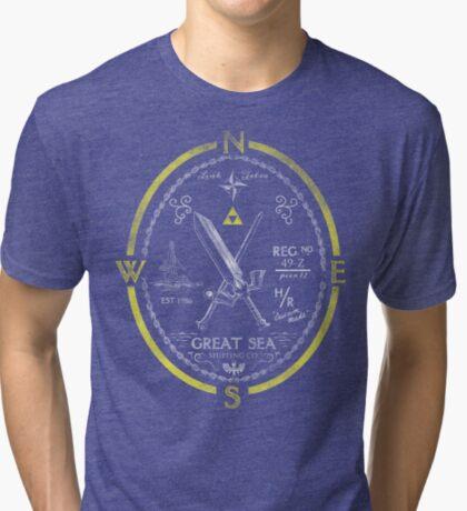 Great Sea Shipping Co. Tri-blend T-Shirt