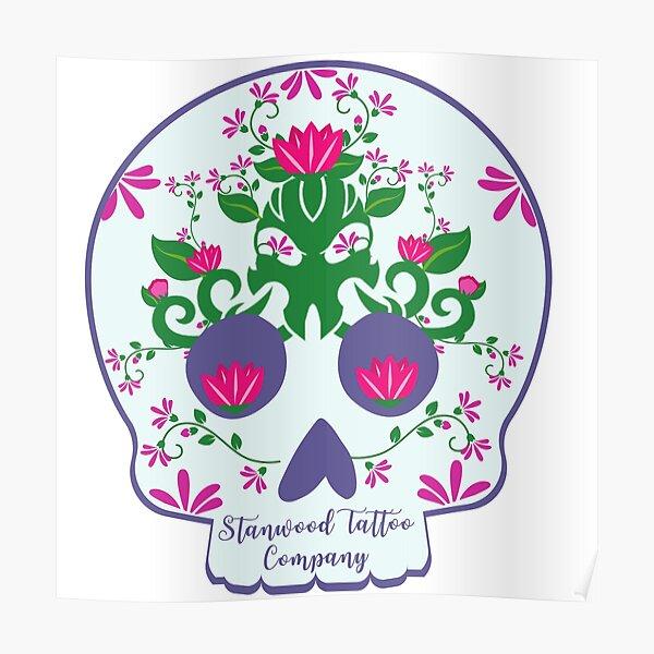 STC Floral Skull Poster