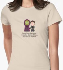 Madame Vastra and Jenny (shirt) Womens Fitted T-Shirt
