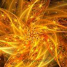 Spherical Golden Stars by wolfepaw