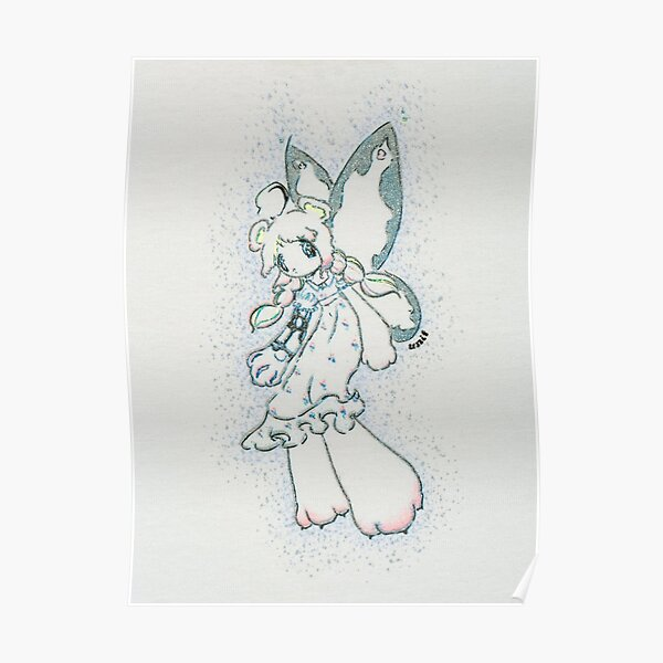 Unif White Bear Fairy Graphic Poster