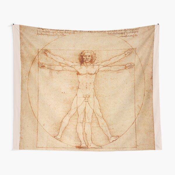 Leonardo Da Vinci The Vitruvian Man - 1940 Tapestry