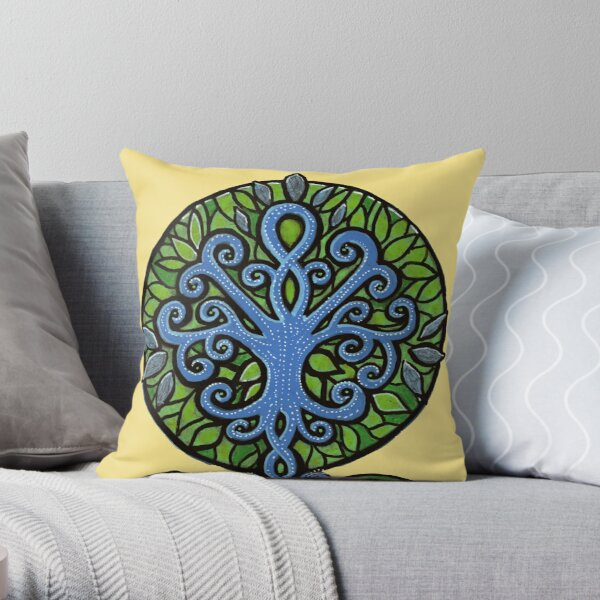 The Growth of Happiness Throw Pillow