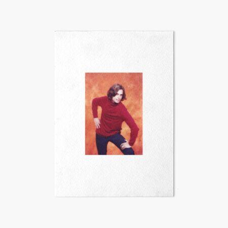 matthew gray gubler red shirt pose Art Board Print