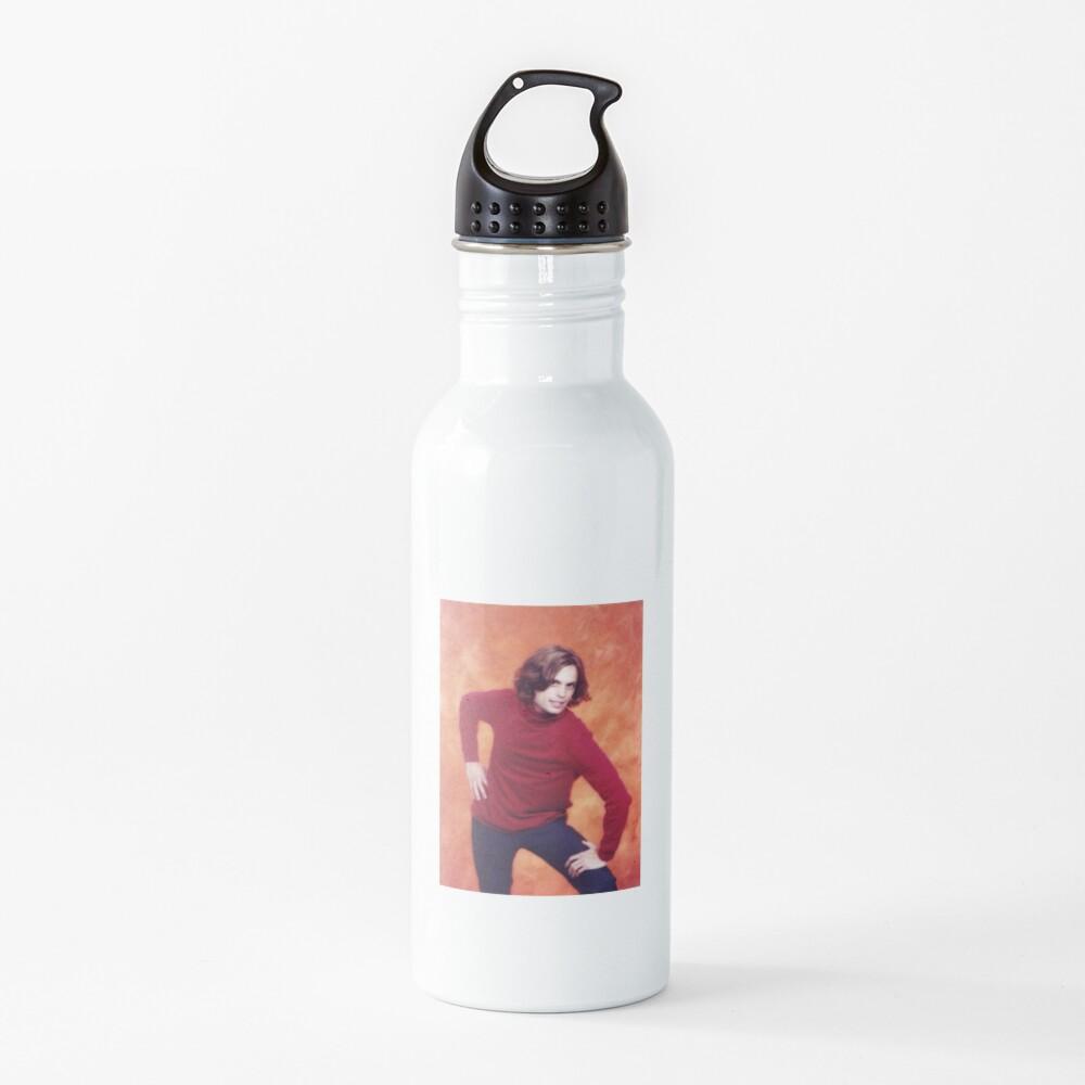 matthew gray gubler red shirt pose Water Bottle