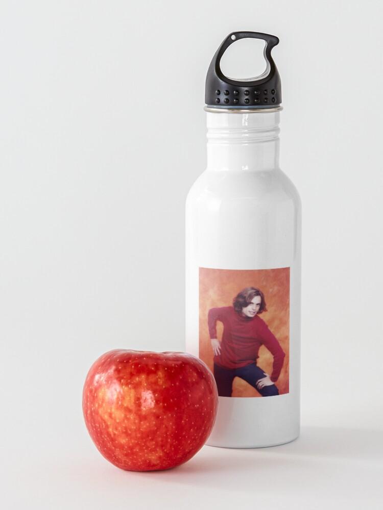 Alternate view of matthew gray gubler red shirt pose Water Bottle