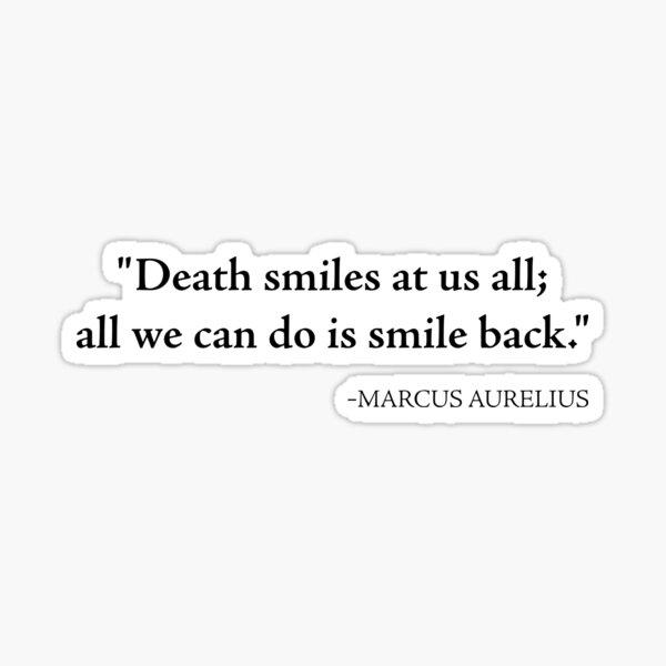 Stoicism - Marcus Aurelius - Stoic Quote - Philosophy - Filosofia  Sticker