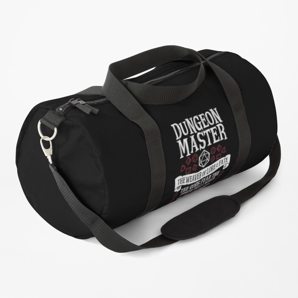Dungeon Master, The Weaver of Lore & Fate - Dungeons & Dragons (White Text) Duffle Bag