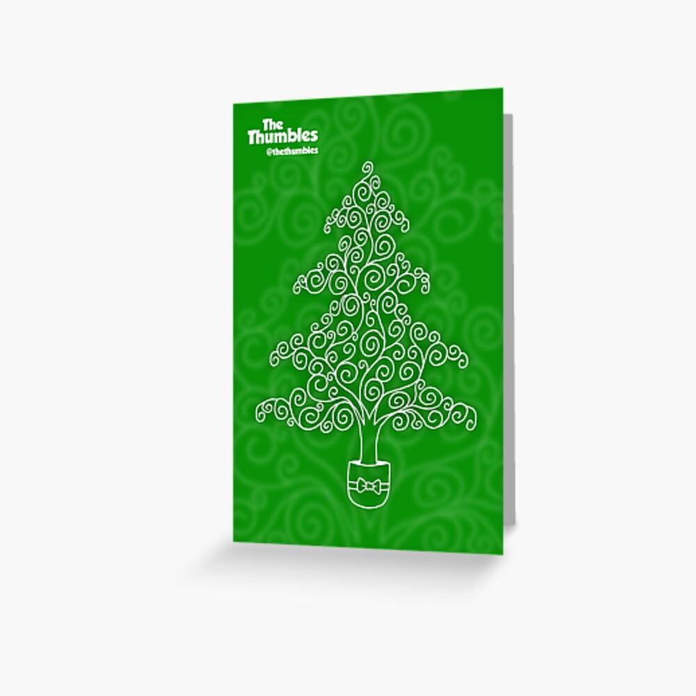 The Thumblemas Tree Greeting Card