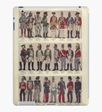 Illustrations of military uniforms from  by René L'Hôpital. iPad Case/Skin
