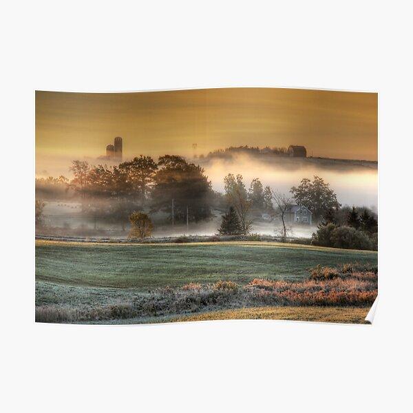 Sunrise on a Misty Morn Poster