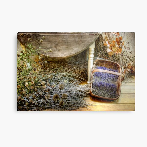 The Lavender Basket Metal Print