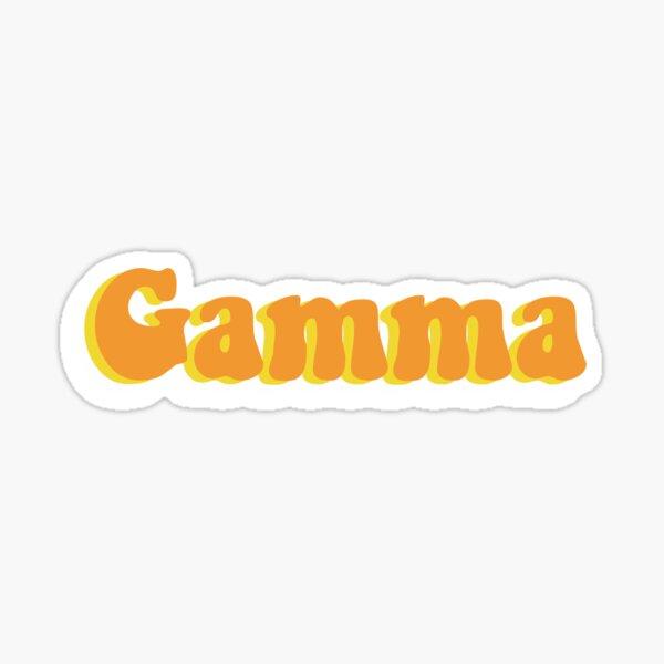 Gamma Greek Letter Sticker