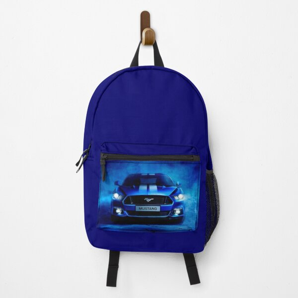 Ford Mustang bleu Backpack