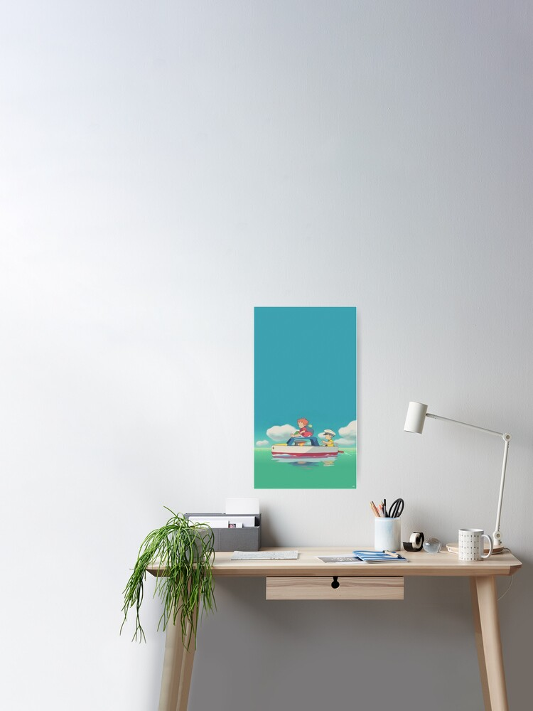 Ponyo Aesthetic Water Background Poster By Sxftashley Redbubble