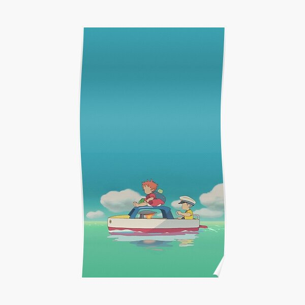 Ponyo Aesthetic Water Background Poster