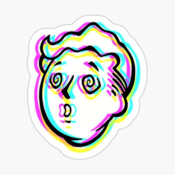 Trippy Vault Boy Sticker