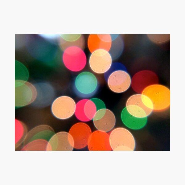 Bokeh Blur Photographic Print