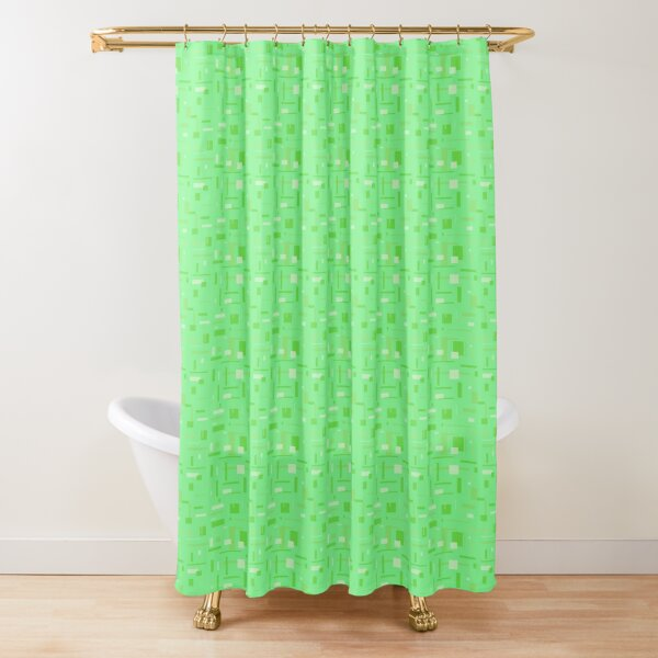 Shower Curtain  Green Square in Brand New Beautiful Designs