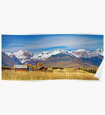 Crested Butte Autumn Landscape Panorama Poster