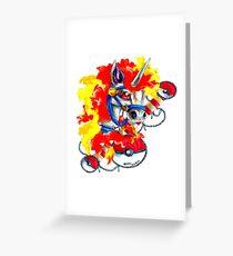 Rapidash - Pokemon Tattoo Inspiration Greeting Card