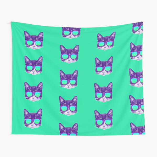Cool Cat with Sunglasses Tapestry