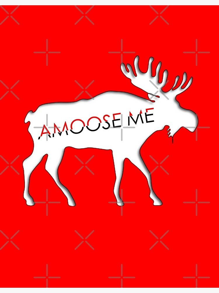 Moose Greeting Card  You amoose me!