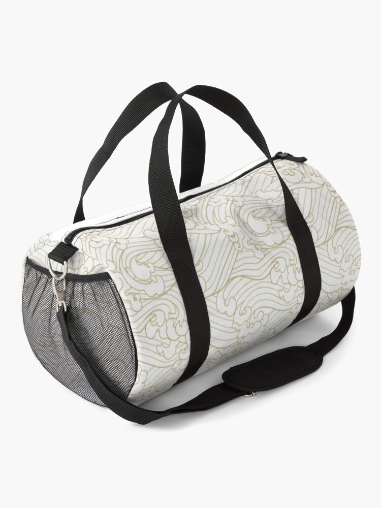 Alternate view of Golden Waves in White Duffle Bag