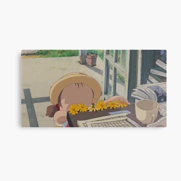 Mei Kusakabe Laying out Flowers Metal Print