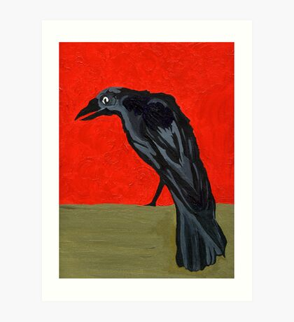 My Poe's Raven Art Print
