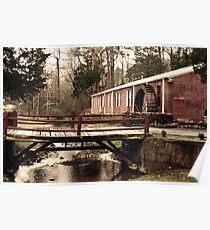 Waterwheel and Bridge 1 Poster