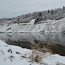 First Snow ~ North Saskatchewan River by Roxanne Persson