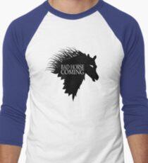 Bad Horse is Coming Men's Baseball ¾ T-Shirt