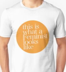 This is what a feminist looks like ORANGE Slim Fit T-Shirt