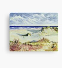 Sketching the Dunes Canvas Print