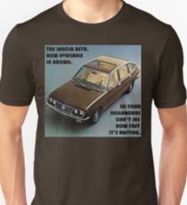 Lancia Beta - Now Available in Brown T-Shirt