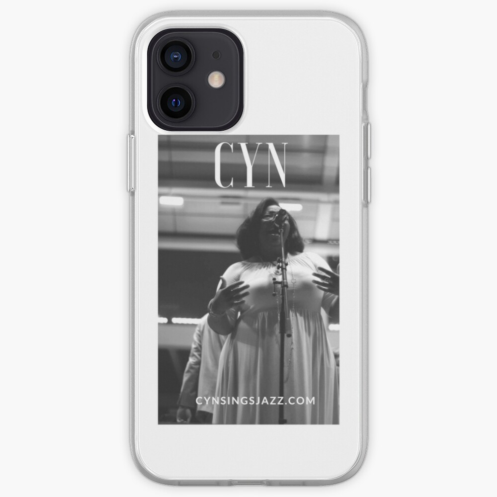 Cyn Sings Jazz: Black and White iPhone Case & Cover