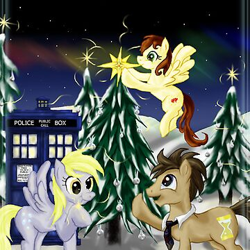 Derpy and Doctor Christmas by StarletNW