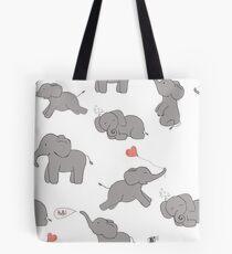 Cute and funny elephants Tote Bag